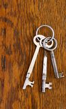 Antique keys on a ring Royalty Free Stock Images