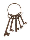Antique keys on a ring Stock Photo