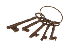Antique keys on a ring Stock Image