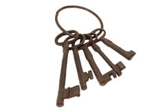 Antique keys Stock Images