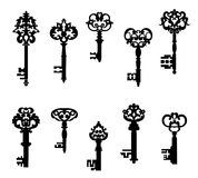 Antique keys set Stock Images