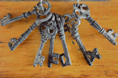 Antique Keys Stock Image