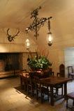 Antique kitchen of Chateau de Chenonceau, France stock image
