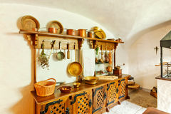 Antique kitchen interior Royalty Free Stock Images