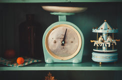 Antique kitchen-scales Royalty Free Stock Images
