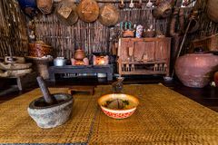 Antique kitchen tools. Kitchen tools Antiques on display floating market in Thailand Royalty Free Stock Photography