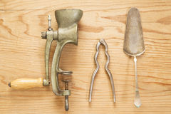 Antique kitchen utensils Stock Photography