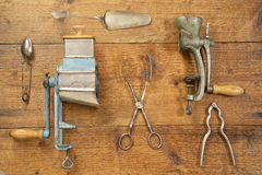 Antique kitchen utensils Royalty Free Stock Photos