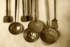 Antique kitchenware Royalty Free Stock Photography