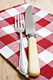 Antique knife and fork Royalty Free Stock Image