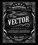 Antique label typography poster vintage frame blackboard design Stock Photo