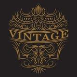 Antique label, vintage frame design, retro logo. Antique label, vintage frame design, typography, retro logo template, vector illustration Stock Image