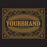 Antique label, vintage frame design, retro logo. Antique label, vintage frame design, typography, retro logo template, vector illustration Stock Photography