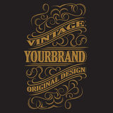 Antique label, vintage frame design, retro logo. Antique label, vintage frame design, typography, retro logo template, vector illustration Stock Photos