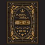 Antique label, vintage frame design, retro logo. Antique label, vintage frame design, typography, retro logo template, vector illustration Royalty Free Stock Image