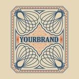 Antique label, vintage frame design, retro logo. Antique label, vintage frame design, typography, retro logo template, vector illustration Royalty Free Stock Photography