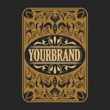 Antique label, vintage frame design, retro logo. Vintage label, antique frame design, typography, retro logo template,vector illustration Stock Images