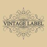 Antique label, vintage frame design, retro logo. Vintage label, antique frame design, typography, retro logo template,vector illustration Stock Photo