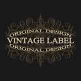 Antique label, vintage frame design, retro logo. Vintage label, antique frame design, typography, retro logo template,vector illustration Royalty Free Stock Photo