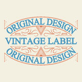 Antique label, vintage frame design, retro logo. Vintage label, antique frame design, typography, retro logo template,vector illustration Stock Photos