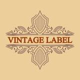 Antique label, vintage frame design, retro logo. Vintage label, antique frame design, typography, retro logo template,vector illustration Royalty Free Stock Photos