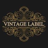 Antique label, vintage frame design, retro logo. Vintage label, antique frame design, typography, retro logo template,vector illustration Royalty Free Stock Image