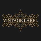 Antique label, vintage frame design, retro logo. Vintage label, antique frame design, typography, retro logo template,vector illustration Royalty Free Stock Images
