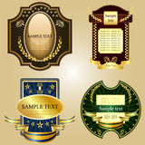 Antique labels. Beautiful ial illustration of antique icons Stock Photo