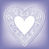 Antique Lace Heart  Stock Photography