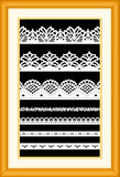 Antique Lace Sampler  Royalty Free Stock Photography