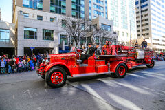 Antique Ladder Fire Truck in Parade Royalty Free Stock Images