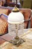 Antique lamp. For sale in a flea market Stock Photos