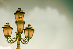 Antique Lamp Background Stock Photography