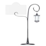 Antique lamp post with card holder Stock Images