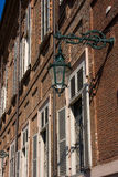 Antique lamp on Royal Palace - Turin Italy Royalty Free Stock Photo
