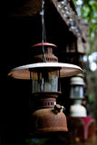 Antique lamp and Rust. Old Lamp hang on back background. it's rust royalty free stock photos
