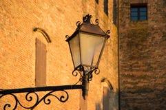 Antique lamp in Santarcangelo di Romagna village, travel Italy - closeup Stock Images