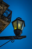 Antique lamp in the street of Colonia. Stock Photos