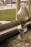 Antique Lamp by the Window Stock Photography
