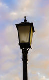 Antique Lamppost Lantern. On a sky background Royalty Free Stock Photos