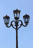 Antique Lamppost Lantern. On a sky background Royalty Free Stock Image