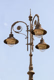 Antique lamppost. Ornate vintage lamppost in glass and metal Stock Images