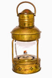 Antique lamps. Antique brass lamp on white background Stock Image