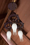 Antique lamps on a ceiling royalty free stock image