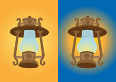 Antique lantern  illustration Royalty Free Stock Images