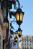 Antique lanterns in Lisbon Stock Photo