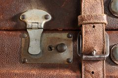 Antique leather. Royalty Free Stock Image