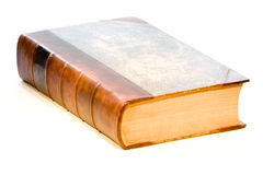 An antique leather book Stock Images