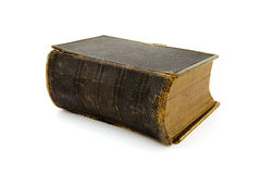Antique leather book over white Royalty Free Stock Image