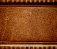 Antique leather book spine cover. royalty free stock photos